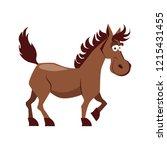 cute smiling horse vector... | Shutterstock .eps vector #1215431455