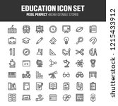 a set of school and educational ... | Shutterstock .eps vector #1215433912