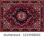 persian carpet  tribal vector... | Shutterstock .eps vector #1215438202
