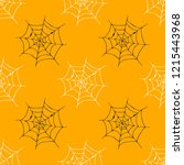 spider web seamless pattern... | Shutterstock .eps vector #1215443968
