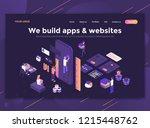 modern flat design isometric... | Shutterstock .eps vector #1215448762