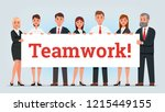 business men and women managers ... | Shutterstock .eps vector #1215449155