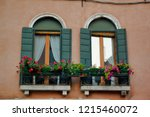 view of house windows in the... | Shutterstock . vector #1215460072