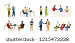 collection of people taking... | Shutterstock .eps vector #1215473338