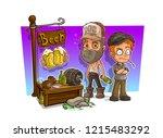 cartoon alcoholic  bad guys... | Shutterstock .eps vector #1215483292