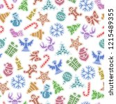 christmas color icons... | Shutterstock .eps vector #1215489355