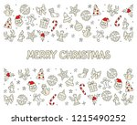 merry christmas icons card  for ... | Shutterstock .eps vector #1215490252