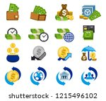 value money and use it... | Shutterstock .eps vector #1215496102