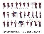 male office worker  clerk or... | Shutterstock .eps vector #1215505645