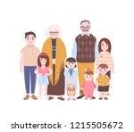 family portrait. grandparents... | Shutterstock .eps vector #1215505672