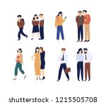 collection of men and women... | Shutterstock .eps vector #1215505708