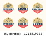 farm meat and poultry abstract... | Shutterstock .eps vector #1215519388