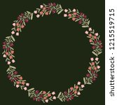 christmas hand drawn wreath... | Shutterstock .eps vector #1215519715