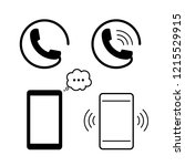 telephone or mobile icon vector | Shutterstock .eps vector #1215529915