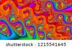 psychedelic flourish... | Shutterstock . vector #1215541645