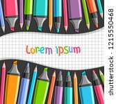 vector poster with colorful... | Shutterstock .eps vector #1215550468