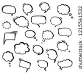 hand drawn speech bubbles. set  ...   Shutterstock .eps vector #1215561532