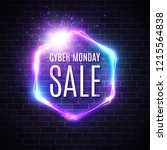 cyber monday background with... | Shutterstock .eps vector #1215564838