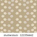 background animal footprints | Shutterstock .eps vector #121556662