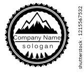 vintage mountain logo design | Shutterstock . vector #1215567532