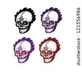 skull | Shutterstock .eps vector #121556986