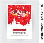 christmas festival offer poster ... | Shutterstock .eps vector #1215574282