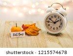 fall back daylight saving time... | Shutterstock . vector #1215574678