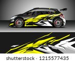 car decal design vector.... | Shutterstock .eps vector #1215577435