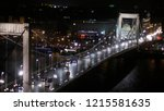 brightly lit bridge over danube ... | Shutterstock . vector #1215581635