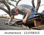 close up view of man using... | Shutterstock . vector #121558315