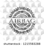 airbag retro style grey emblem... | Shutterstock .eps vector #1215583288