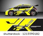racing car wrap design vector.... | Shutterstock .eps vector #1215590182