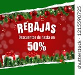 rebajas  sale  with ripped... | Shutterstock .eps vector #1215590725