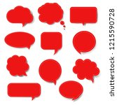 red speech bubble set isolated... | Shutterstock .eps vector #1215590728