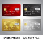 realistic detailed credit cards ... | Shutterstock .eps vector #1215595768