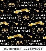 new years eve 2019 vector... | Shutterstock .eps vector #1215598015