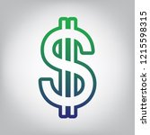 united states dollar sign.... | Shutterstock .eps vector #1215598315