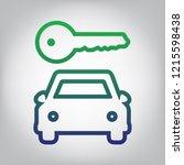 car key simplistic sign. vector.... | Shutterstock .eps vector #1215598438