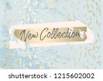 worn marble gold and pastel...   Shutterstock .eps vector #1215602002