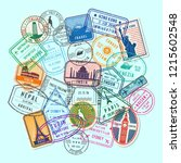 world immigration and post...   Shutterstock . vector #1215602548
