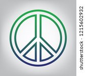 peace sign illustration. vector.... | Shutterstock .eps vector #1215602932
