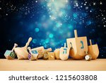 banner of jewish holiday... | Shutterstock . vector #1215603808