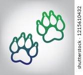 animal tracks sign. vector.... | Shutterstock .eps vector #1215610432