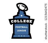 american football  college... | Shutterstock .eps vector #1215642475