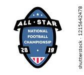 all star american football logo. | Shutterstock .eps vector #1215642478
