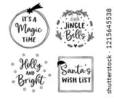 christmas and new year... | Shutterstock .eps vector #1215645538