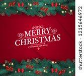 merry christmas design template ... | Shutterstock .eps vector #1215646972