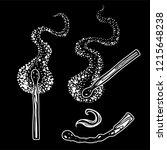 smoldering match  burning and...   Shutterstock .eps vector #1215648238