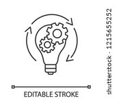 idea generation linear icon.... | Shutterstock .eps vector #1215655252