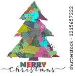 vector greeting card with... | Shutterstock .eps vector #1215657322